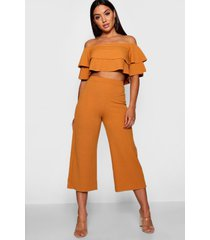 double bandeau top & culotte co-ord set, mustard