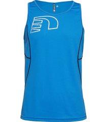 core coolskin singlet t-shirts sleeveless blå newline