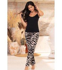 pijama mujer conjuto pantalón tiras 11373