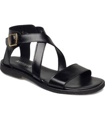 5442 shoes summer shoes flat sandals svart angulus