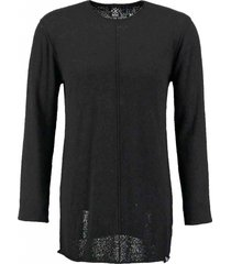 kultivate lange zwarte badstofachtige trui