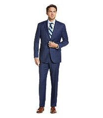traveler collection tailored fit plaid men's suit clearance by jos. a. bank