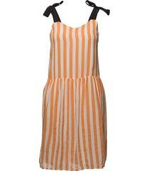 raquel korte jurk oranje custommade