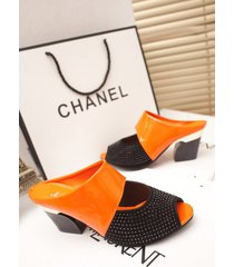 sandalias abiertas de tacón medio para mujeres sandalias mujer