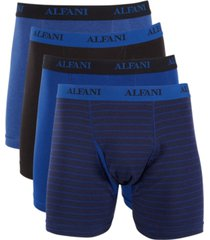 alfani men's 4 pack boxer briefs, created for macy's
