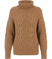 y.a.s yastalia ls knit pullover d2d tawny brown