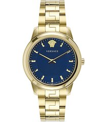 greca stainless steel bracelet watch