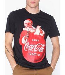 only & sons onscoca cola xmas reg tee t-shirts & linnen svart