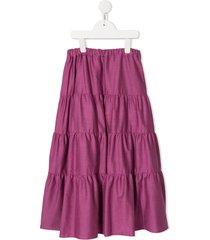familiar full maxi skirt - purple