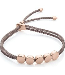 monica vinader linear bead mink bracelet - neutrals
