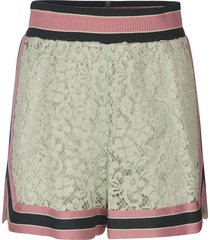dolce & gabbana stripe trimmed floral shorts