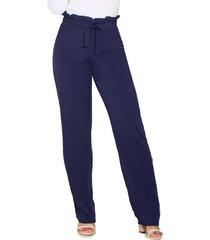pantalon bag azul para mujer croydon
