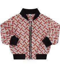 burberry beige jacket for babykids with thomas bubery motif