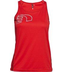 core coolskin singlet t-shirts & tops sleeveless röd newline