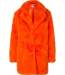 apparis sophie mid-length coat - orange