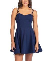 b darlin juniors' strappy fit & flare dress