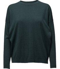 vanessa round neck knit stickad tröja grön stig p