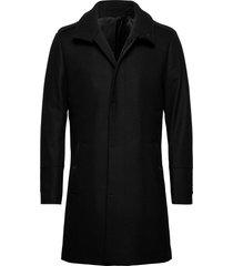 cunning wollen jas lange jas zwart tiger of sweden