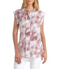 h halston women's button front blouse