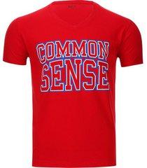 camiseta common sense color rojo, talla m