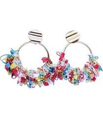 aros  argollas crochet multicolor viva felicia