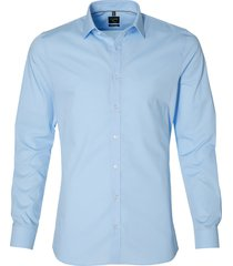 olymp overhemd - body fit - blauw