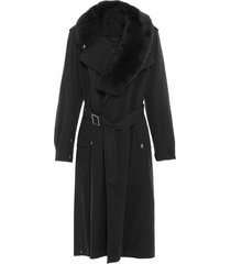 nick wooster unisex trench with shearling scarf