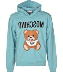 moschino reverse logo bear hoodie