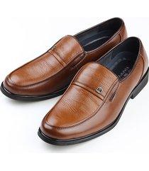 zapatos vestir cuero casual negocios oxfords -marron