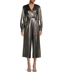 ted baker london women's metallic wrap jumpsuit - gold - size 0 (2)