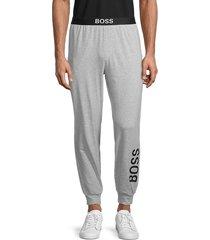 boss hugo boss men's identity logo lounge pants - grey - size s