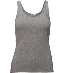 cotton stretch tank top t-shirts & tops sleeveless grå filippa k