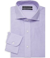 classic-fit geometric dress shirt