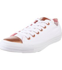 zapatillas  blanca  converse  chuck taylor all star metallic