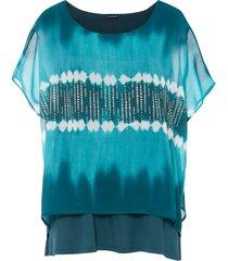 maglia doppio strato con stampa batik (petrolio) - bodyflirt