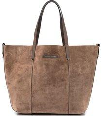 brunello cucinelli reversible tote bag - brown