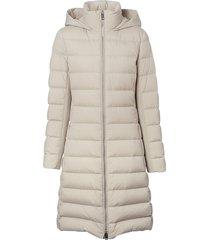 burberry hooded padded coat - white