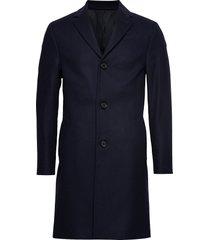 cashmere wool crombie coat wollen jas lange jas blauw calvin klein