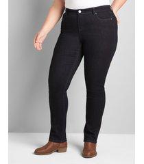 lane bryant women's signature fit straight jean- dark wash 20 dark denim