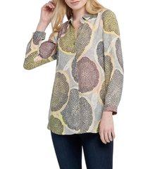 women's nic+zoe citrus shirt, size x-large - yellow