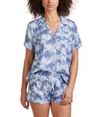 splendid women's notch collar shortie pajama set, online only