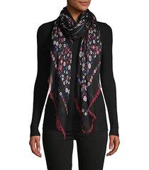 floral cashmere & silk scarf