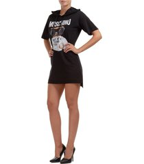 women's short mini dress short sleeve teddy bear