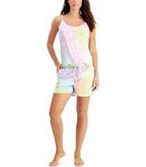 jenni tie-dyed cami & shorts loungewear set, created for macy's