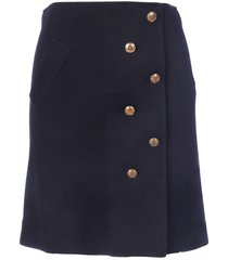 givenchy buttons short skirt