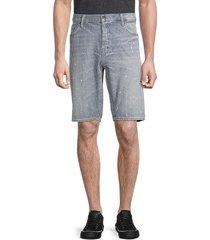prps men's valve straight-fit striped denim shorts - stripe grey - size 34