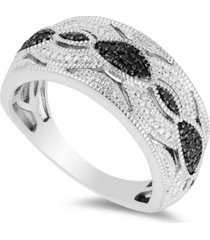 diamond (1/6 ct. t.w.) vintage ring in sterling silver
