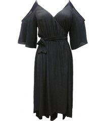 vestido cruzado nudo negro nicopoly