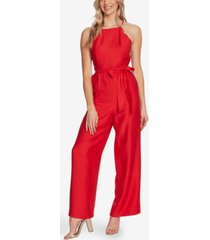 cece scalloped wide-leg jumpsuit