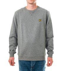 lyle and scott maglione uomo crew neck sweatshirt ml424vtr.t28